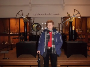 Mary Jo with Lavoisier equipment