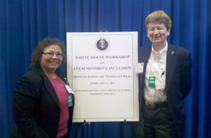 Picture of Mary Jo Ondrechen and colleague at the White House